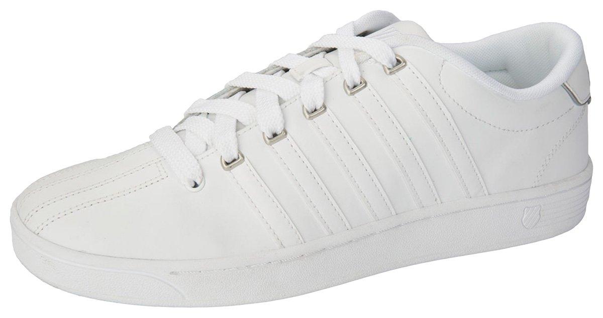 K-Swiss Women's Court II Leather Up Comfort Footwear_White_6H,CMFIICOURTPRO by K-Swiss