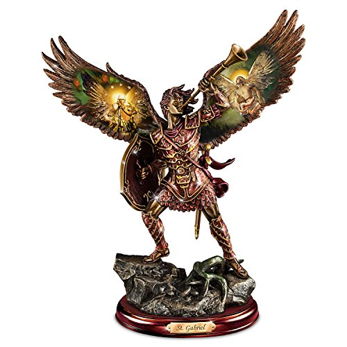 Archangel Gabriel Sculpture with Howard David Johnson Artwork by The Bradford Exchange