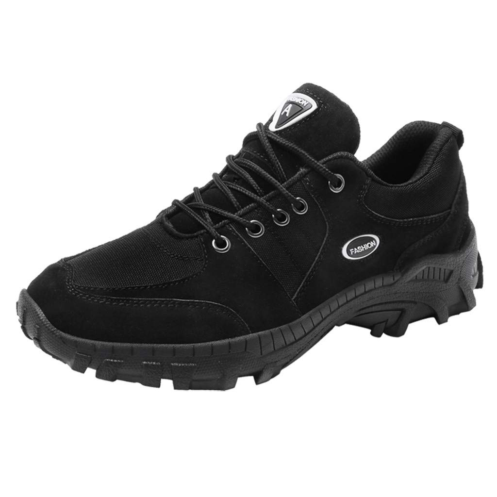 Men's Hiking Shoe Low-top Camping Backpacking Shoes Non-Slip Outdoor Sneakers Black