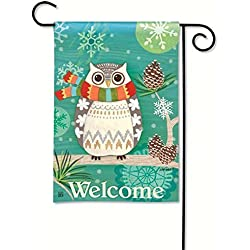 Magnet Works MAIL31261 Winter Owl Garden Flag