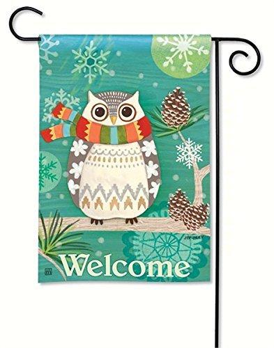 Magnet Works MAIL31261 Winter Owl Garden Flag
