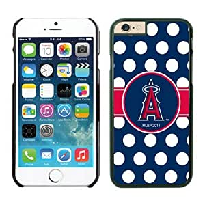 Los Angeles Angels of Anaheim iPhone 6 Cases 073 Black_58399 iphone leather case-Slim Bumper Case with Soft Flexible TPU material for Scratch Resistant