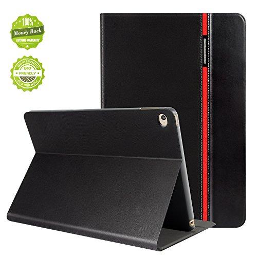 AUAUA iPad Mini 4 Hülle, iPad Mini 4 Lederhülse Smart-Schlaf, Sie werden mit einer Membran für Schirm-schutz beschenkt werden, für Apple iPad iPad Mini 4 Apple Tablet (Schwarz, iPad Mini 4)