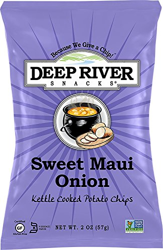 Deep River Snacks Kettle Chips, Sweet Maui Onion, 24 - Kettle Sweet