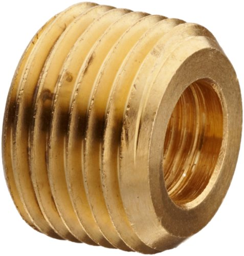 Lead Free Pipe Fitting, Face Bushing, 3/4 NPT Male X 3/8 NPT (Pipe Face Bushing)