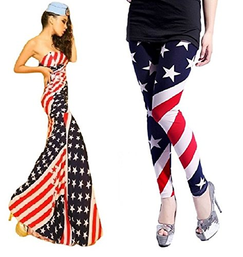 [SSJ:American Flag Diagonal Stripe Star Costume Off Shoulder Super Long Maxi Dress Plus American Flag] (Usa Flag Dress Teen Costumes)