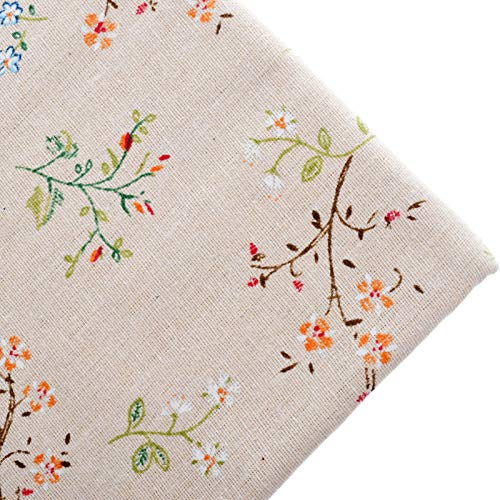 - Let's dream Cotton Fabric Telas for Fat Quarters Sewing Material Cloth for Table Cover Bags Craft Dress Botanical Pattern 100x150cm