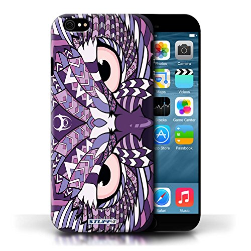 Etui / Coque pour Apple iPhone 6/6S / Hibou-Pourpre conception / Collection de Motif Animaux Aztec