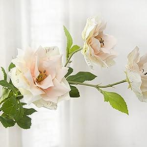 LI HUA CAT 2 Heads Flowers 1 Bud Purple Lotus 3 pcs Artificial Flowers Silk Cloth Flowers for Wedding Decor Table Decor Party Shop Decor and DIY use (Champagne) 93