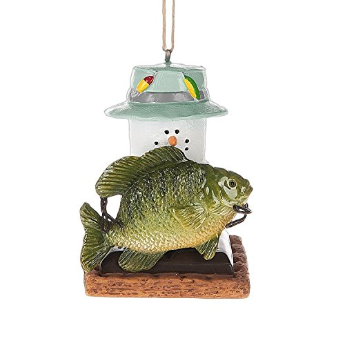 S'mores Fishing Marshmallow Christmas Ornament (Marshmallow Ornament)
