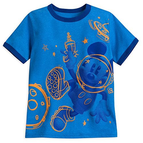Disney Mickey Mouse Ringer T-Shirt for Boys Size S (5/6) Multi -