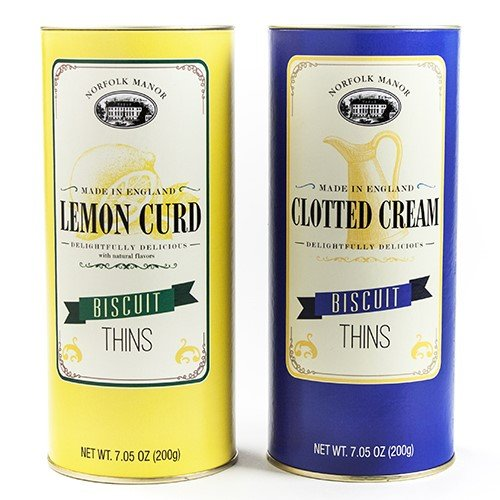 Cream Manor (Norfolk Manor Biscuits Thins Assortment - Lemon Curd & Clotted Cream (7.05 ounce each))
