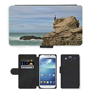 Hot Style Cell Phone Card Slot PU Leather Wallet Case // M00111216 Cormorant Bird Water Bird Coast // Samsung Galaxy S3 S III SIII i9300