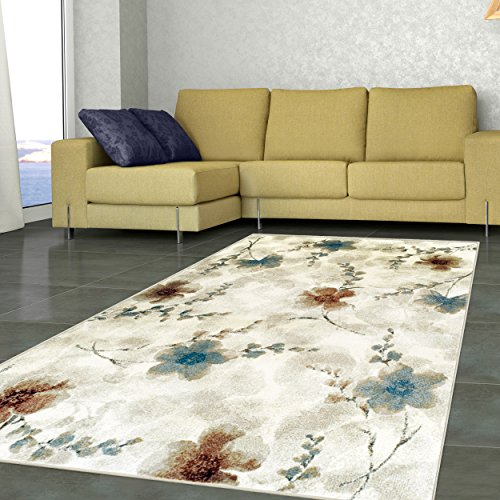 Cheap Superior Quality Soft, Plush and Durable 10mm Moisture and Mildew Resistant Fiore Collection Area Rug, 5′ x 8′ Stone