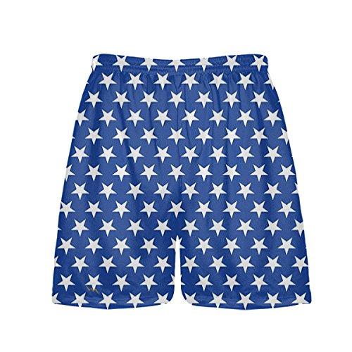 LightningWear Blue Stars Shorts – Athletic Shorts – Blue Stars Lacrosse Shorts – DiZiSports Store