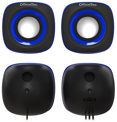 OfficeTec USB Speakers Compact 2.0 System for Mac and PC (Blue) by OfficeTec (Image #3)