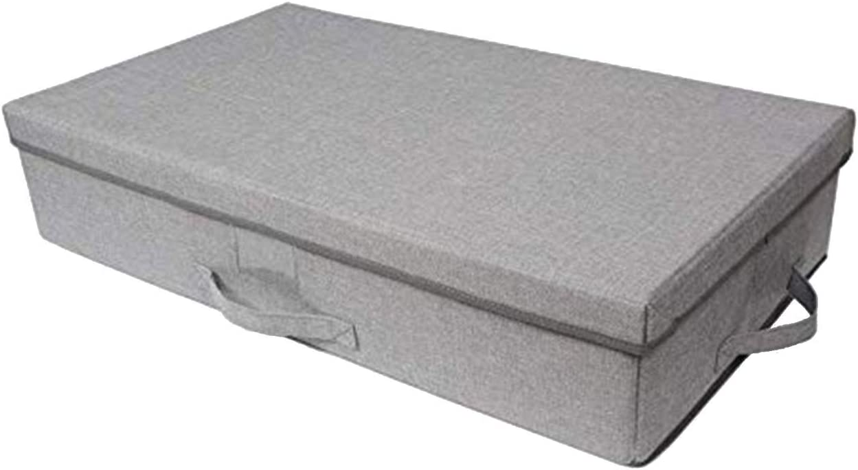 Amazon Com Primary Designs Large Collapsible Under Bed Storage Bin With Lid Reinforced Handles And Durable Tweed Fabric For Closet Under Crib Couch Storage Home Kitchen