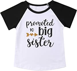 7d9cfe95d4 Gaono 2019 Baby Girl Clothes Outfit Big Sister Letter Print T-Shirt Top  Blouse Shirts