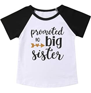 d16a0ad31 Gaono 2019 Baby Girl Clothes Outfit Big Sister Letter Print T-Shirt Top  Blouse Shirts