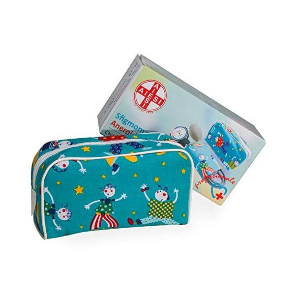 AIESI Esfigmomanometro Tensiómetro Manual Pediatrico Profesional Aneroide clásico con brazalete de colores para ninos DOCTOR PRECISION CHILD ✔ Medidor de presión sanguinea mecánico ✔ Garantía 24 meses 6