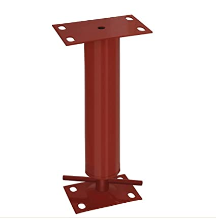 90 Length Use with Steel Beams Red Akron Products P H406 4 Adjustable Steel Columns Includes H Plate 4-1//4 x 7-1//4 x .120 Adjustable Range 76-710 11 Gauge Monopost 90 Height