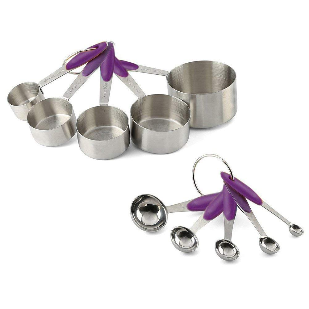 Measuring Set - 10 Measuring Spoons and 5 Measuring Cups Solid Sturdy Stainless Steel Stackable Measuring Spoon Set LIU COMINHKPR116989