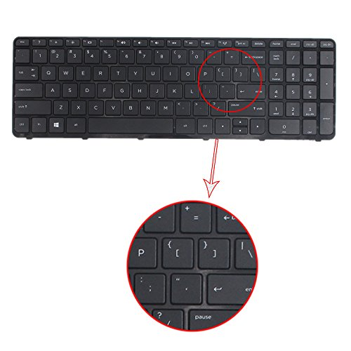 TLBTEK Replacement Keyboard with Frame Compatib HP Pavilio 15-d 15-f 15-g 15-r 15-e 15-f387wm 15-d035dx 15-f233wm 15-f272wm 15-f010wm 15-n290nr 15-e 15-f222wm 15-f271wm US Layout