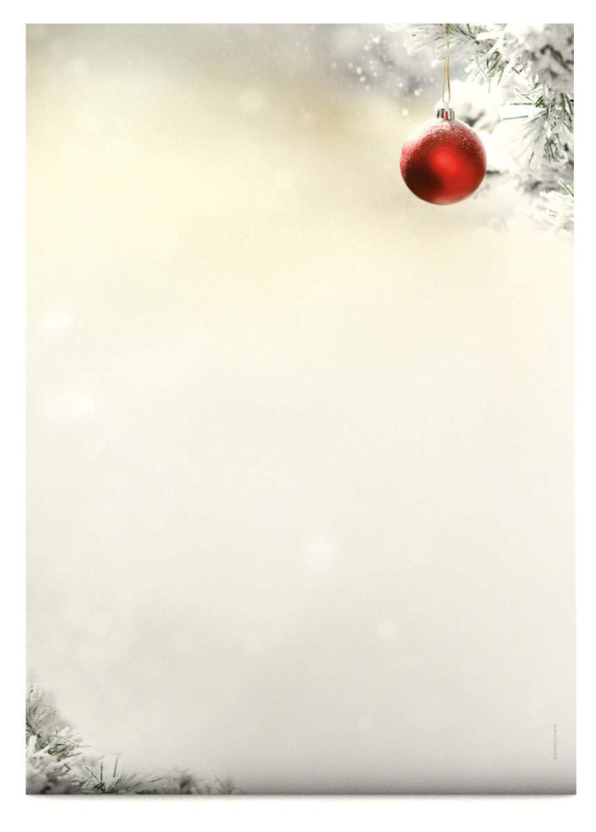 100g//qm 20 Blatt Briefpapier Motivpapier mit Motiv Weihnachten