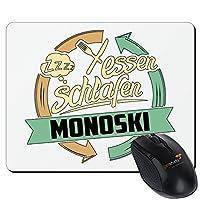 getshirts - RAHMENLOS® Geschenke - Mousepad - Sport Monoski - weiss uni