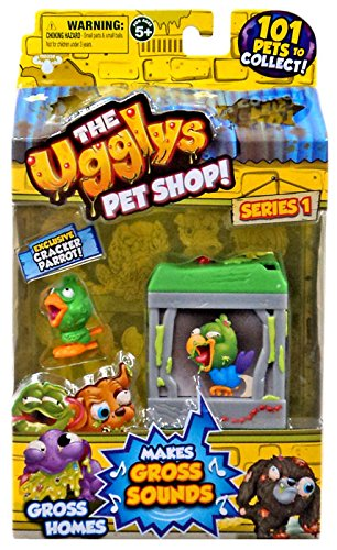 The Ugglys Pet Shop!, Series 1 Gross Homes, Poop Coup with Exclusive Cracker Parrot