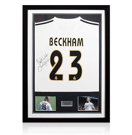 Framed David Beckham Signed Real Madrid Shirt: Amazon.co.uk: Kitchen ...