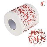 Jannyshop Chrismas Toilet Roll Paper 3D Pattern Santa Claus Xmas Gift Snowman Elk Xmas Trees Printed