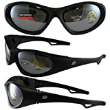 New Birdz Gull Jet Ski Watersport Floating Goggles Interchangeable Between Goggles/Sunglasses with smoke mirrored lenses.