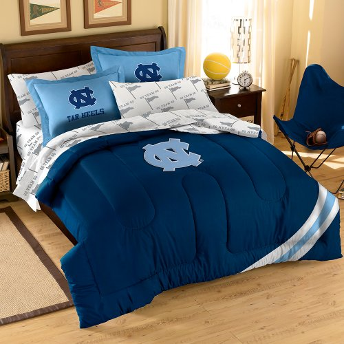 NCAA North Carolina Tar Heels Full Bedding Set (North Carolina Comforter)