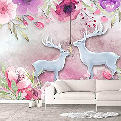 Quality Creation, Marvelous Design, Wall Murals for Bedroom Green Plants Animals Removable Wallpaper Peel and Stick Wall Stickers
