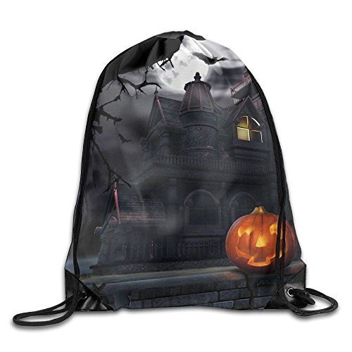 Full Moon Hallowmas Halloween Drawstring Gym Sport Bag, Large Lightweight Gym Sackpack Backpack For Men And (Parks And Recreation Halloween Gif)