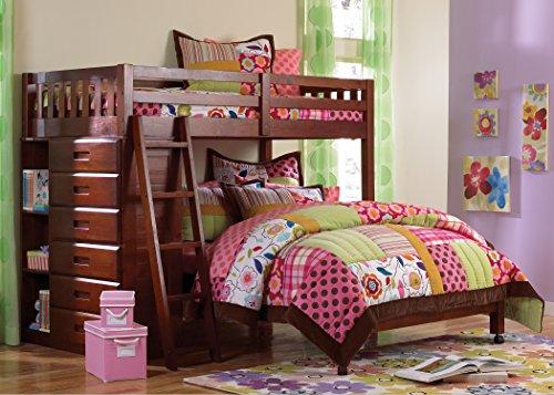 American Furniture Classics 2805-TFM Loft Bunk Bed, Twin Over Full (American Furniture Classics Bunk Bed Twin Full)