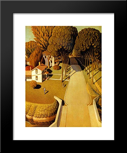 The Birthplace of Herbert Hoover 20x24 Framed Art Print by Grant - Galleria Hoover