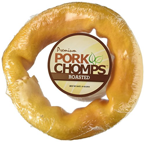 Scott Pet Products 1 Count Pork Chomps Roasted Skin Bagel Treat, 6