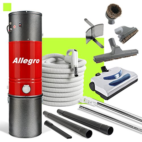 Allegro Central Vacuum MU4100 3,000 sq. ft. Unit and 30 ft Hose and Powerhead (Aerus Natural)