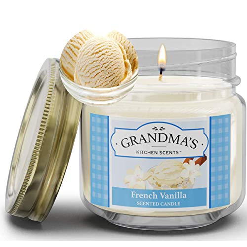 French Vanilla Scented Candles for Home | Non Toxic Long Lasting Soy Candles | Delicious Scent | 8 oz Mason Jar | Hand Made in The USA