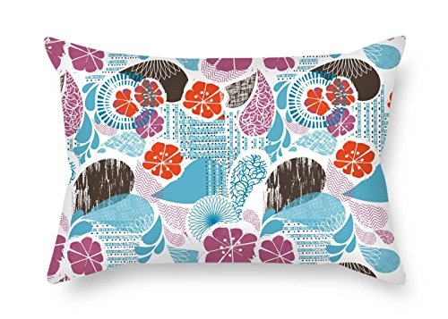 beeyoo Flower Cushion Cases 16 X 24 Inches / 40 by 60 cm Gift Or Decor for Girls Teens Monther Kitchen Kids Girls Lounge - Twice Sides