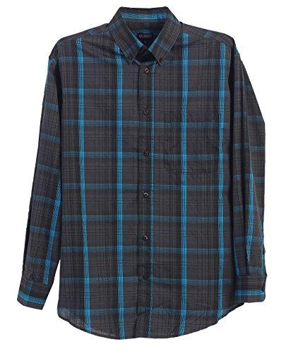 Gioberti Mens Long Sleeve Plaid Big & Tall Shirt