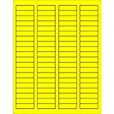 Tape Logic LL170YE Rectangle Laser Labels 1 3/4 x 1/2 Fluorescent Yellow (Pack of 8000)