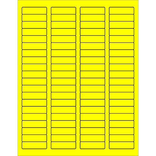 Ship Now Supply SNLL170YE Tape Logic Rectangle Laser Labels 1 3/4 x 1/2 Fluorescent Yellow (Pack of 8000) by Ship Now Supply