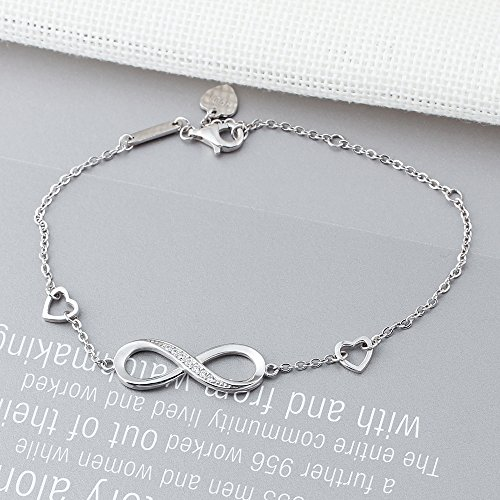 CLEMENT & HILTON Infinity Love 925 Sterling Silve Beautiful Love Symbol Bracelet Specially for Women The Most Intimate Gift(Friends/Mothers) by CLEMENT & HILTON (Image #3)