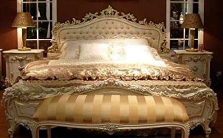 Camera Matrimoniale Stile Antico.Louisxv Vp7712s Letto Matrimoniale Stile Barocco 120 X 190 Cm