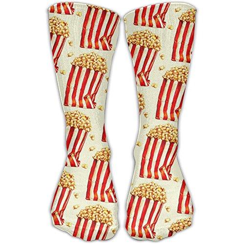 Cool Popcorn Food Crew Socks Halloween Christmas Socks For (Recess Halloween Movie)