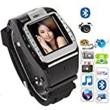 "black New N388 Unlocked 1.4"" Touch Screen Watch Mobile Phone Adjustable Band Cell phone"
