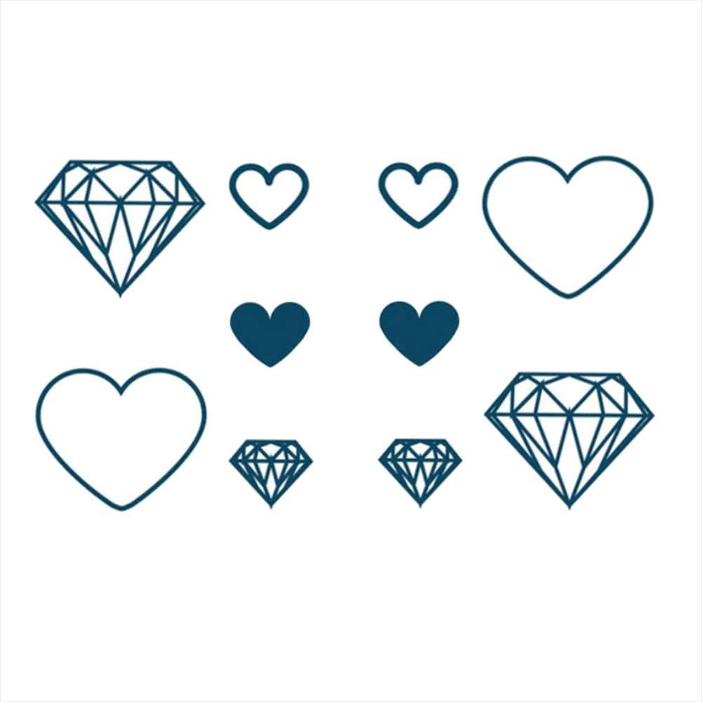 Tatuajes temporales minimalistas con diseño de corazones de ...